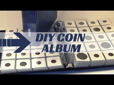 DIY COIN COLLECTION ALBUM - How To Make Your Own Coin Album For Storing Coin Collection