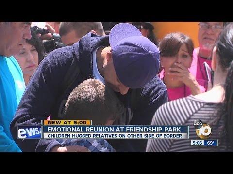 Emotional reunion at Friendship Park