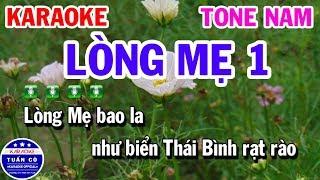 Karaoke Lòng Mẹ 1 Nhạc Sống Tone Nam Fm | Karaoke Tuấn Cò