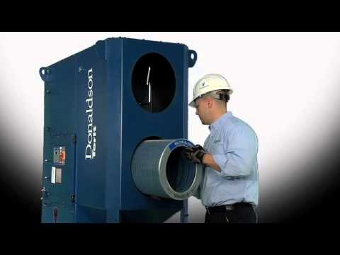 Downflo Oval DFO Filter Changeout - Industrial Dust Collection Technology from Donaldson Torit