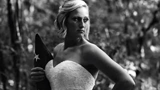 Bride Poses for Somber Wedding Photos Alone After Cop Fiance Killed on Duty