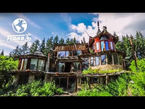 Whimsical Forest Village Built from Raw and Reclaimed Materials
