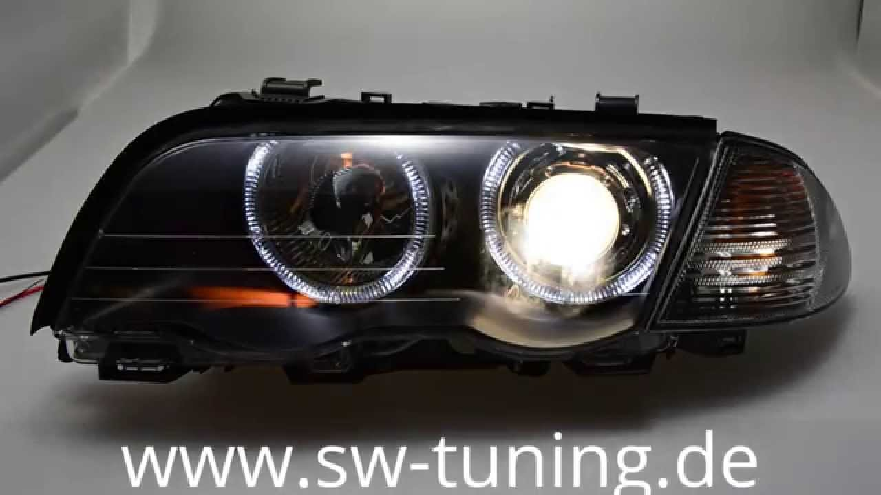 angel eye scheinwerfer bmw e46 limo touring. Black Bedroom Furniture Sets. Home Design Ideas