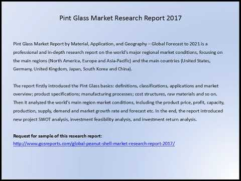 Gosreports Conclusion: Pint Glass Market Research Report 2017