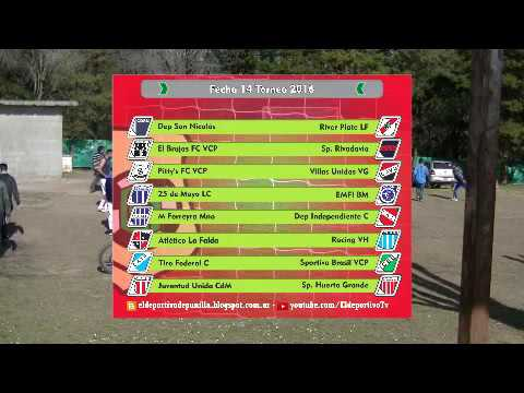 El Deportivo tv P16B03 - Posiciones, Goleadores, Próxima fecha 14.