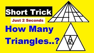 How to count triangles-1 in a figure | counting of figures tricks|Counting of Triangle