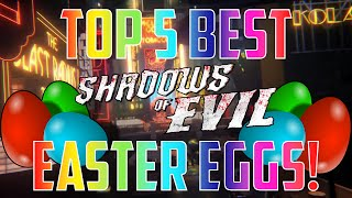 Top 5 Best Easter Eggs In Shadows of Evil Zombies!