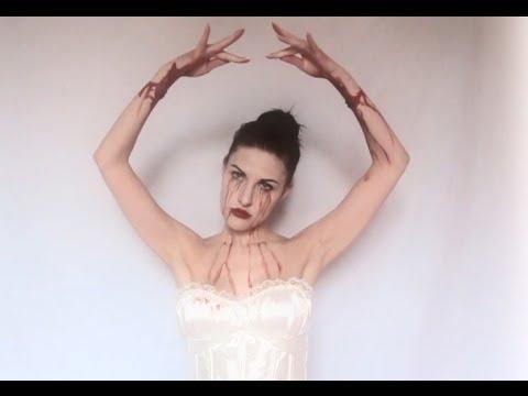 bloody ballerina halloween makeup ballerina suicida - Dead Ballerina Halloween Costume