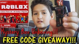 Roblox Mystery Box-Blind Bags-Figures-Unboxing-FREE CODE GIVEAWAY!!!