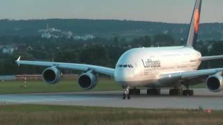 Airbus A380 Start und Landung