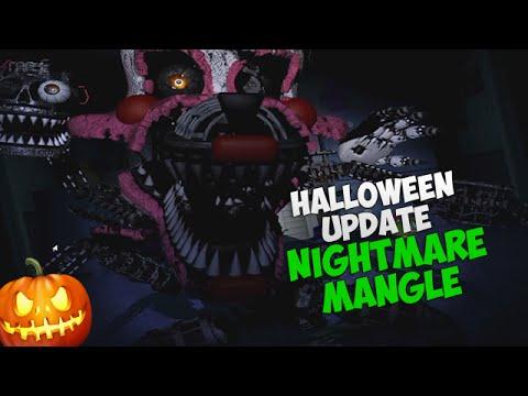 СКРИМЕР КОШМАРНОЙ МАНГЛ! - Nightmare Mangle Jumpscare - FNAF 4 (Halloween Edition)
