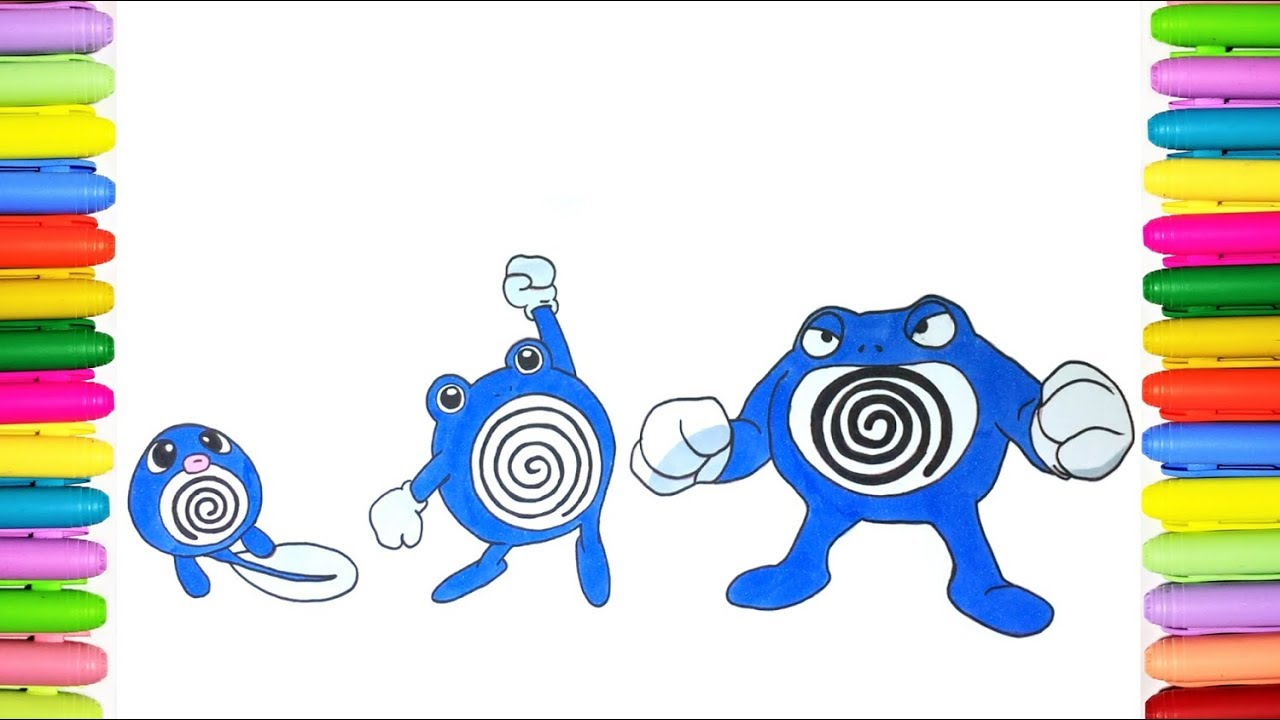 pokemon poliwag coloring pages - photo#32