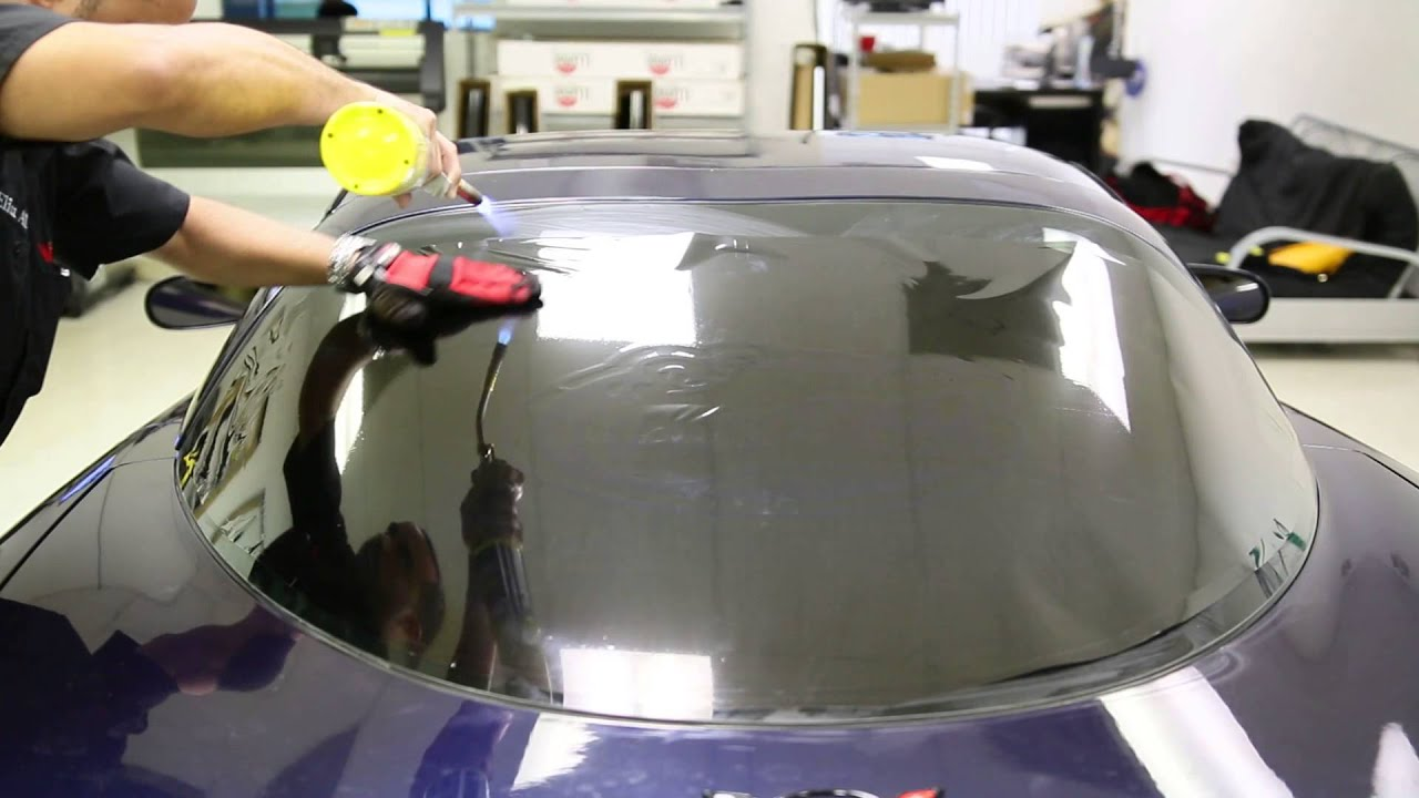 How To Window Tint Corvette Back Window Heat Shrink Torch