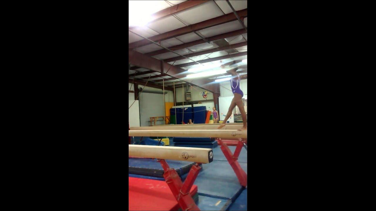 Level 9 GymnastSide Aerial On High Beam