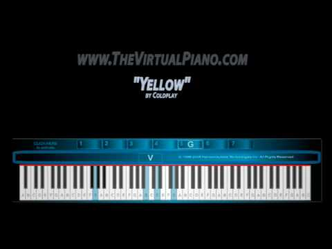 The Virtual Piano plays Yellow by Coldplay