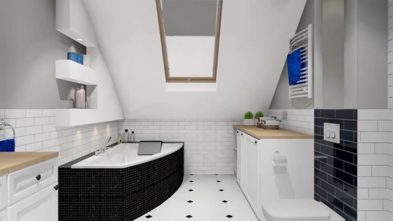 Aranżacja łazienki Ze Skosem Na Piętrze