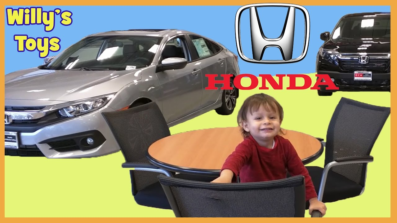 Cute Kid Test Driving 2017 Honda Ridgeline Truck And Civic Kids Car Review S Toys