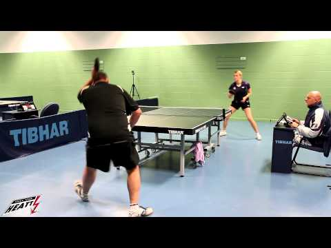 HEATT East Midlands Hardbat Competition 2012 - Egle Adomelyte Vs Graham Sandley (Final)