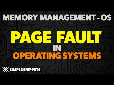 Page Faults & Page Fault Handling in Operating Systems | Page Fault Numerical Example | Thrashing