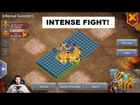 TWO MAN Infernal Summit BEAST Set Up Check It OUT! Castle Clash