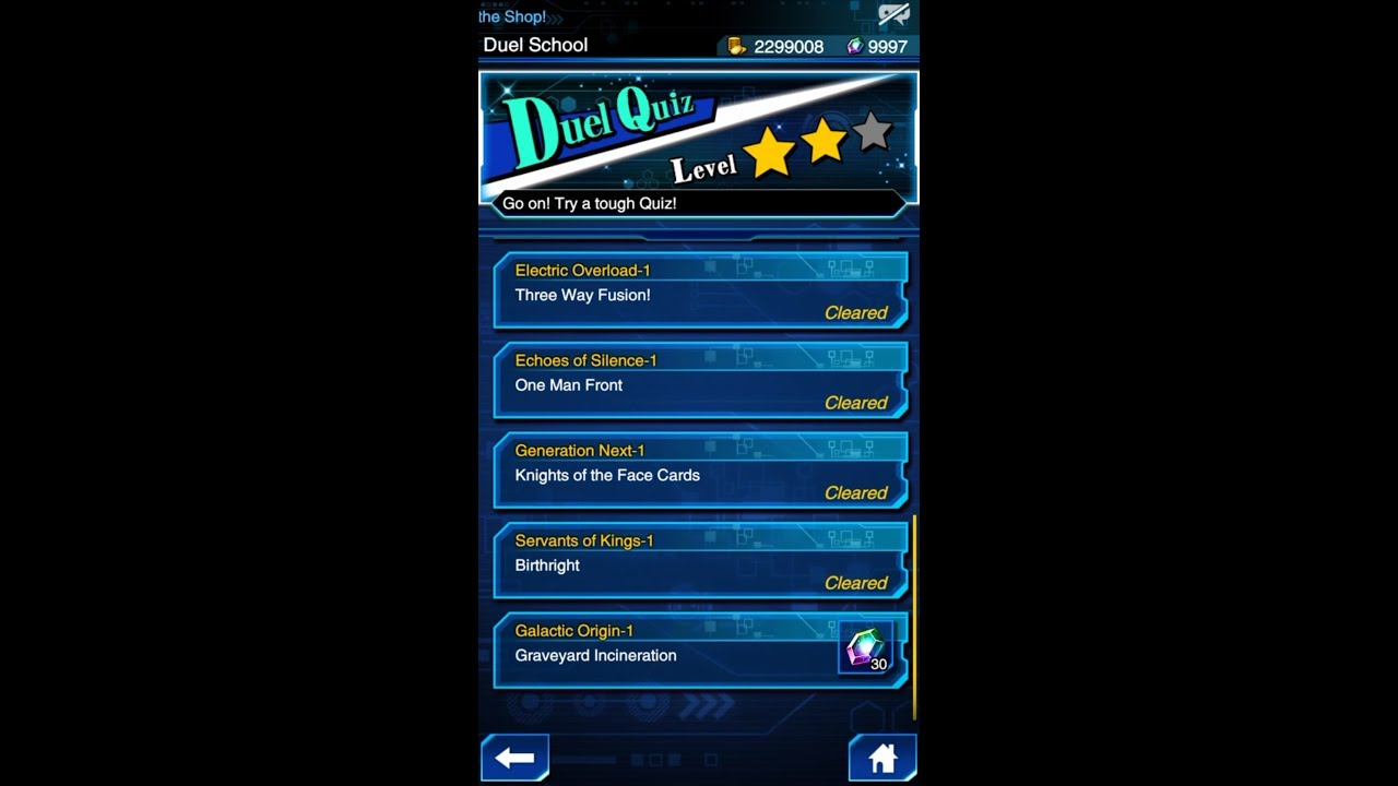 Yugioh Duel Links - Duel Quiz Level 2 : Galactic Origin 1