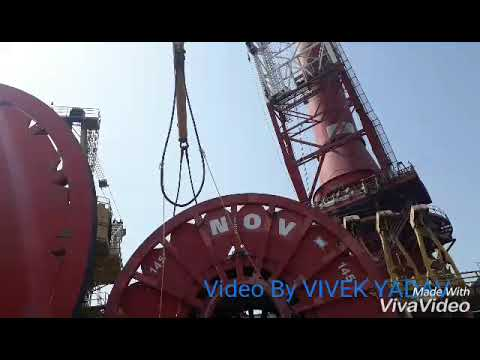 Ship LTS 3000 loading barge.. SAGAR 300 in sea