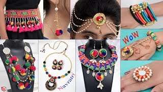 12 Handmade Navratri Jewelry Making !!! Necklace, Ring, Bracelet, Earring