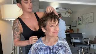 ❤️ Styling My Mom's Short Wavy/Curly Hair ❤️ @Steph.Mero