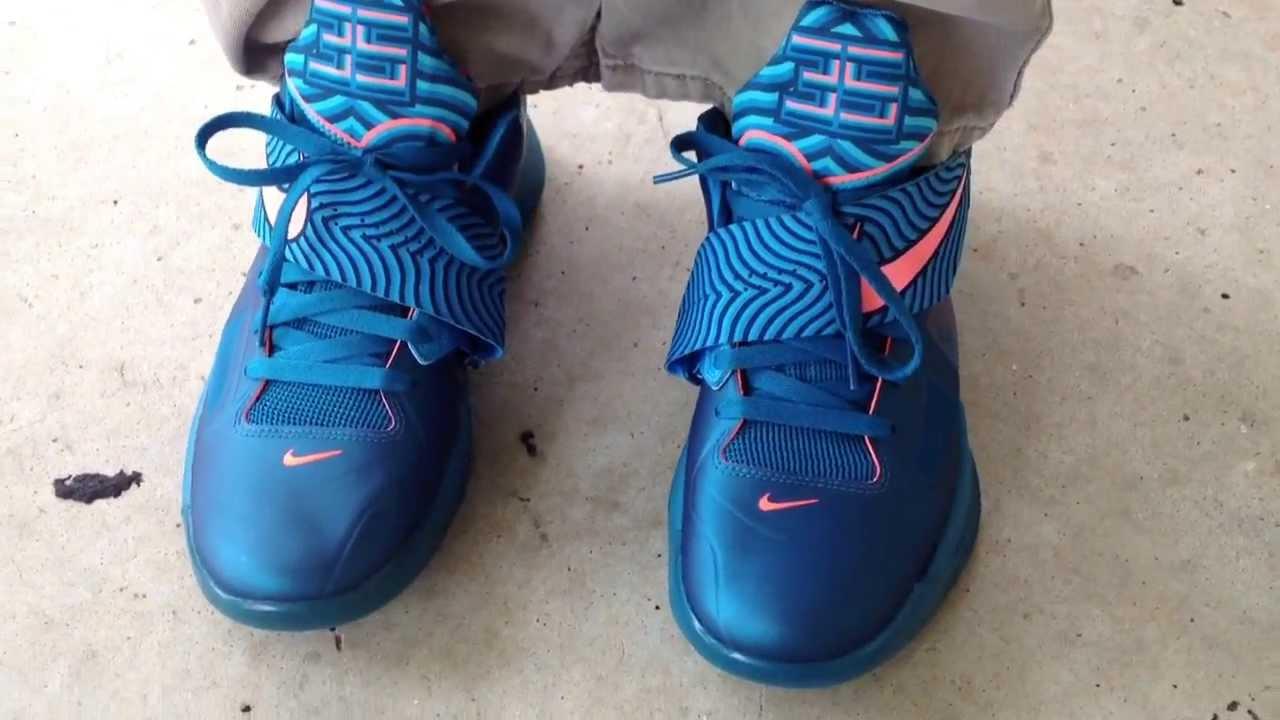 "Nike Zoom KD IV 4 ""YOTD"" ""Year Of The Dragon"" on feet ...Kd 4 On Feet"