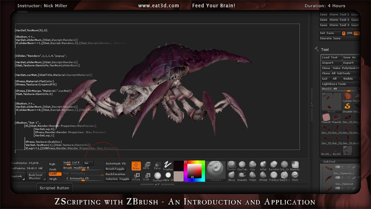 ZScripting with ZBrush - An Introduction and Application