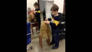Мастер класс по прическам ↑ Видео урок для начинающих парикмахеров от Артура (6 лет)