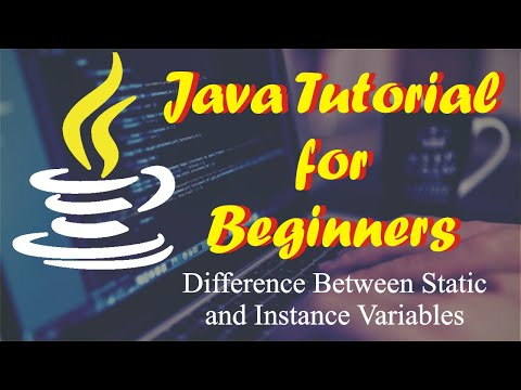 What is the Difference Between Static And Instance Variables In Java