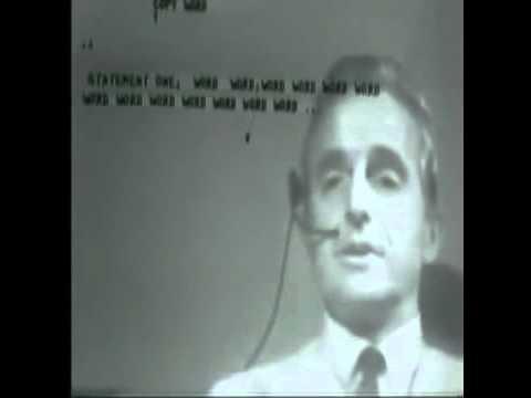 "Douglas Engelbart 1968 - ""Mother of all Demos"""