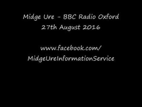 Midge Ue - BBC Radio Oxford 27th August 2016