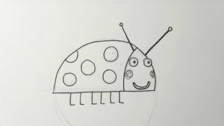 How to draw Gaston the Ladybird from Ben and Holly