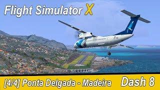 Microsoft Flight Simulator X Teil 1023 Ponta Delgada - Madeira | SATA Dash 8 | Liongamer1