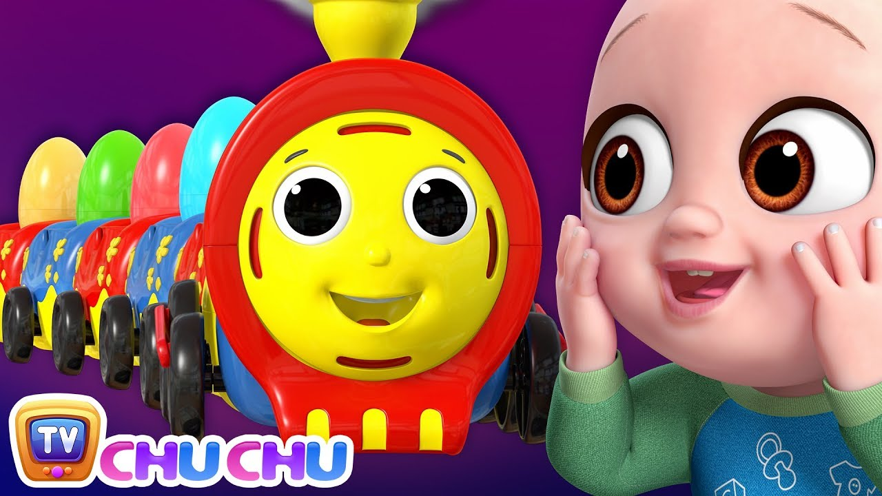 Farm Animals Song with Chu Chu Toy Train - Animal Sounds Song - ChuChuTV Peek & Play Surprise Eggs