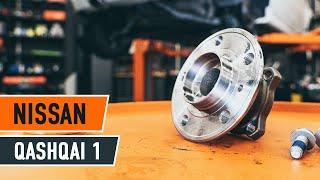 Montaje Juego de cojinete de rueda delantera y trasera NISSAN QASHQAI: vídeo manual