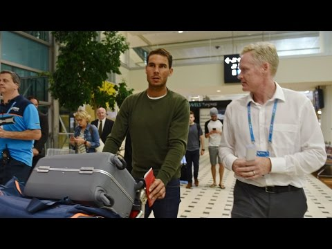 Rafael Nadal arrives in Brisbane | Brisbane International 2017