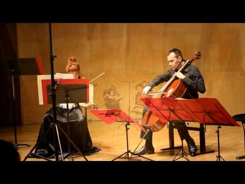 "Philippe HUREL : ""Traits"" for violin & cello"