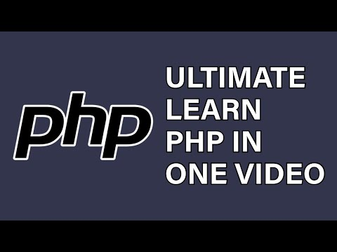 Ultimate Learn PHP in one Video - PHP Tutorial 2020
