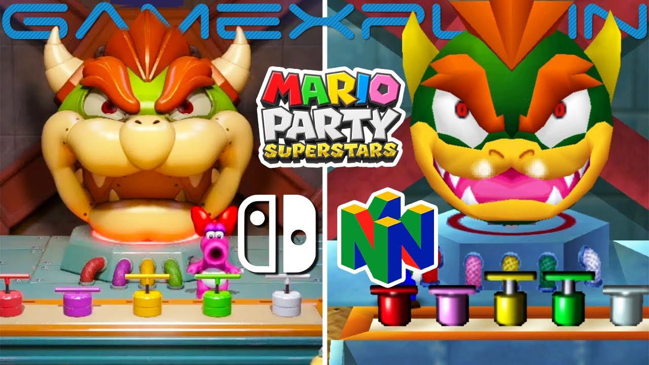 Mario Party Superstar Graphics Comparison (Switch vs. N64)