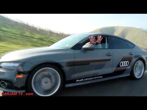 AUDI A7 Self Driving Car 550 Mile Roadtrip Las Vegas CES Audi Driverless Car CARJAM TV 4K 2015