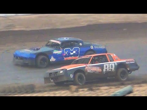 Sept 3 2017 Lebanon,Oregon Willamette Speedway.Road To The Iron Giant Street Stock Series. - dirt track racing video image