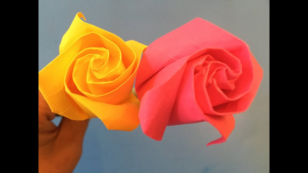 How To Make Origami Rose For Beginner Make A Paper Rose