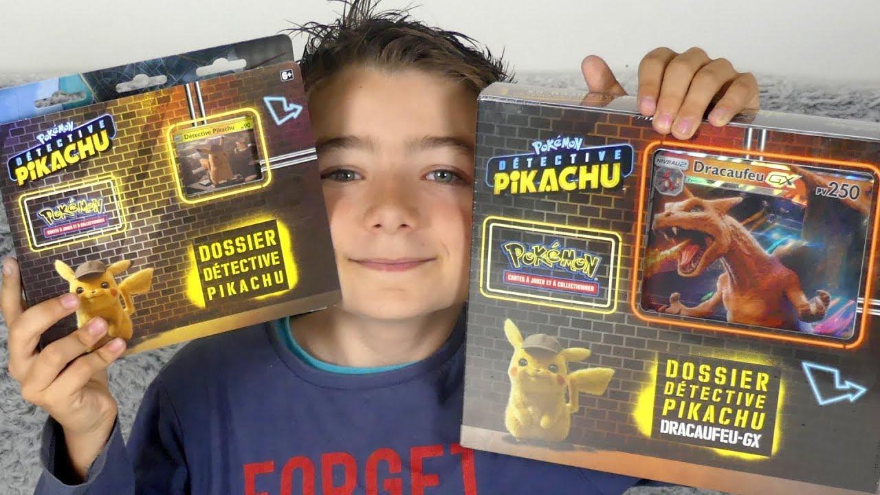 carte pokemon detective pikachu DÉTECTIVE PIKACHU   Ouverture des 2 coffrets Dracaufeu GX +