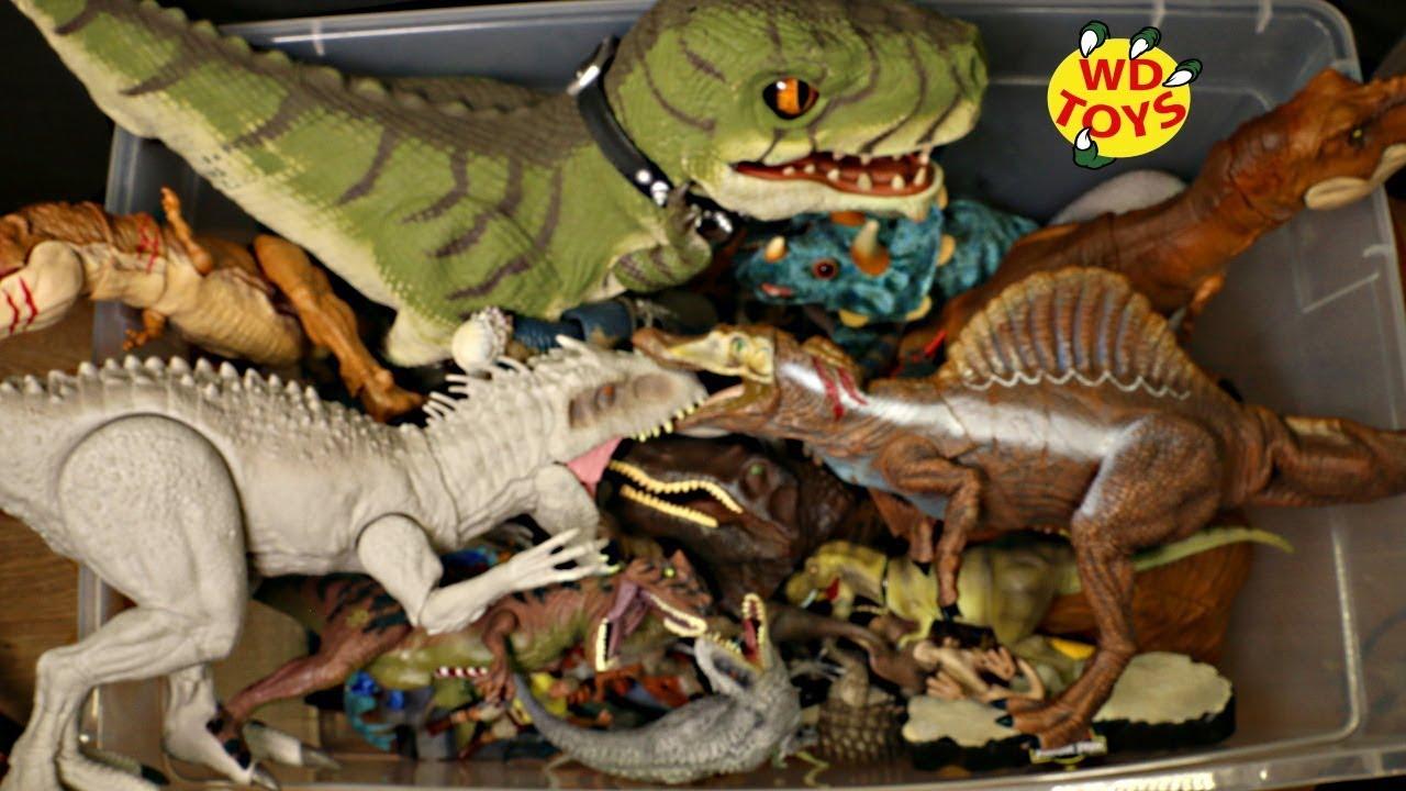 60 DINOSAUR TOYS!! Huge Surprise Box Jurassic World 1 & 2 Dinosaur  Adventure Dinosaur Toys Kids