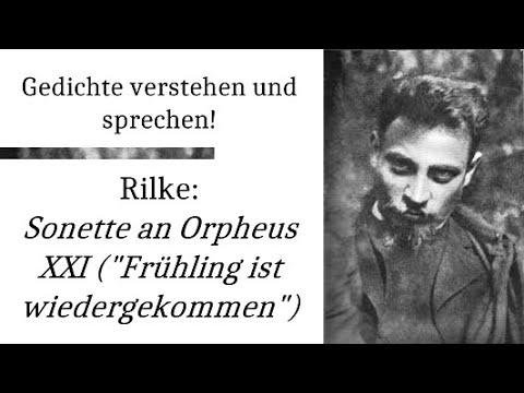 Rilke Frühling Ist Wiedergekommen Sonette An Orpheus Xxi Gedichte Karaoke 64