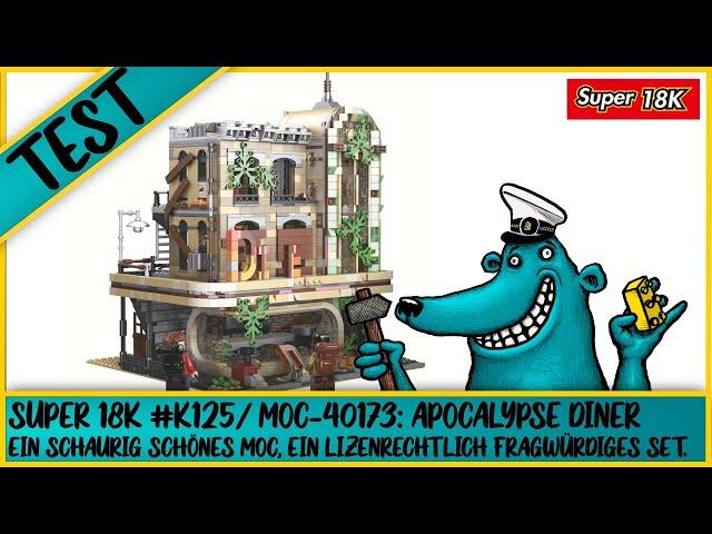 Die schaurig schöne Apokalypse-Version von Legos Downtown Diner - Super 18K K125/ MOC-40173.