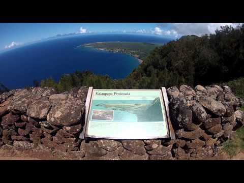 Hiking in Palaau State Park. Molokai, Hawaii